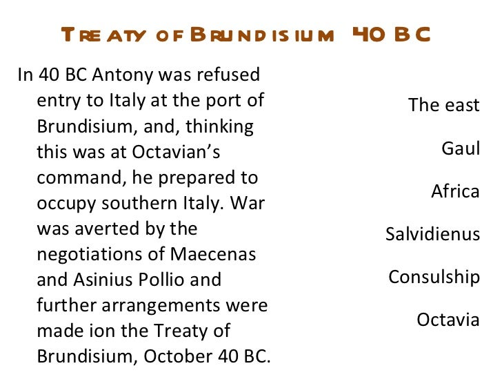 #7 Treaty of Brundisium - 40 BC (The Octavian Chronicles)