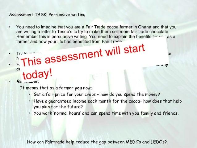 persuasive essays on fair trade Argumentative, persuasive essay - the sugar industry needs fair trade.