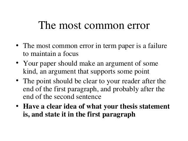 Help write a term paper tips
