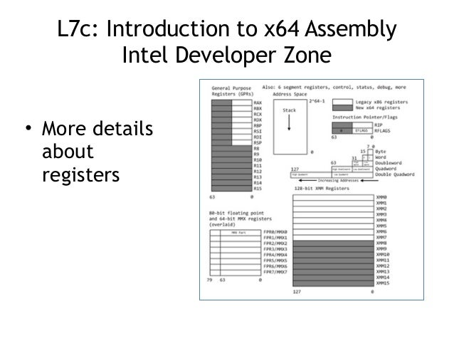 CNIT 127 Lecture 7: Intro to 64-Bit Assembler (not in book)
