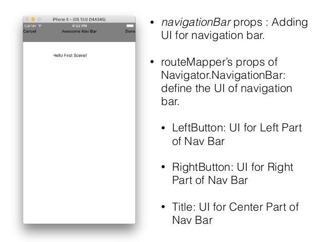 React Native Navigation Bar