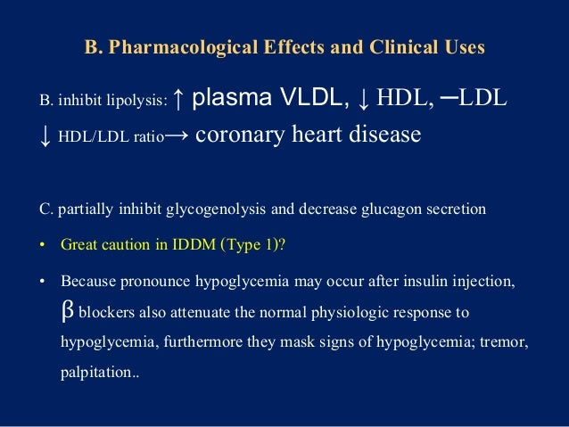 B. Clinical Uses Cardiovascular and ophthalmic applications are extremly important A. CVS: -angina pectoris ↓cardiac work ...