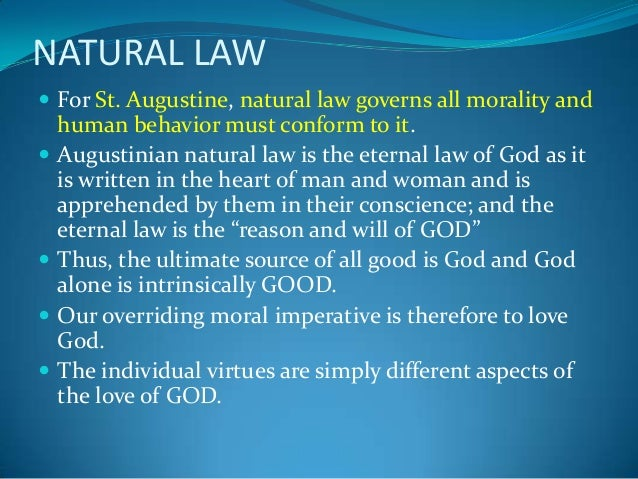 explain aquinas teachings about natural law Aquinas on law read saint thomas aquinas, on law, morality and  bible when he speaks of the old law, thomas is thinking mainly of the ten commandments when he speaks of the new law, the teachings of jesus  and this participation of the eternal law in the rational creature is called the natural law aquinas conceives of creatures.