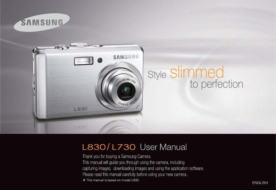 samsung camera l830 l730 user manual rh slideshare net samsung camera pl200 user manual samsung galaxy camera instruction manual