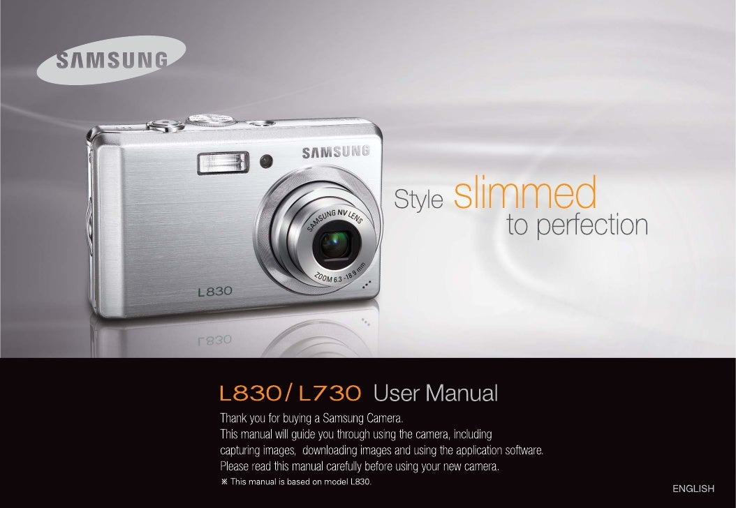 Samsung camera l830/l730 user manual.