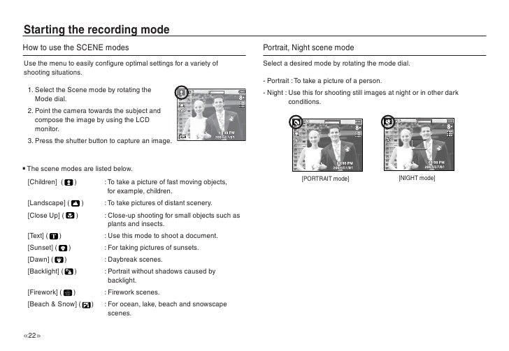Samsung L Digital Camera Operation & user s manual PDF View/Download