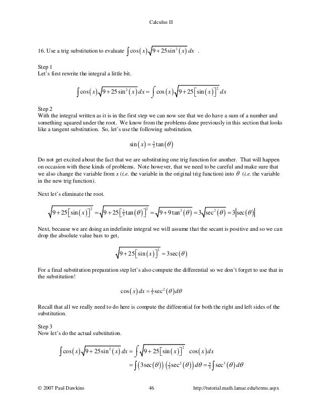 Calc Ii Completesolutions
