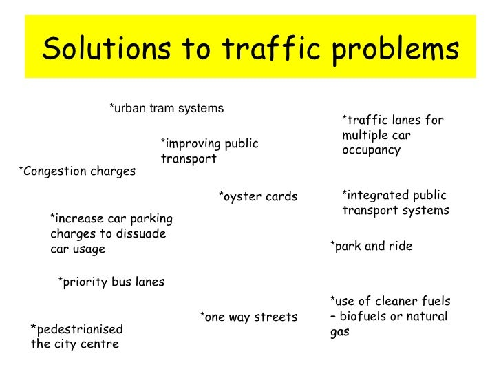 essay on transportation problems The public-transportation system in the kingdom is a discouraging  to improve  customer service, appears to be at the heart of the problem,.