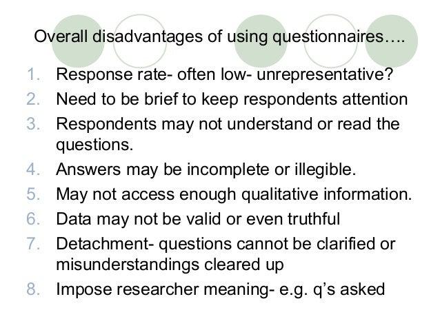 limitation of questionnaire