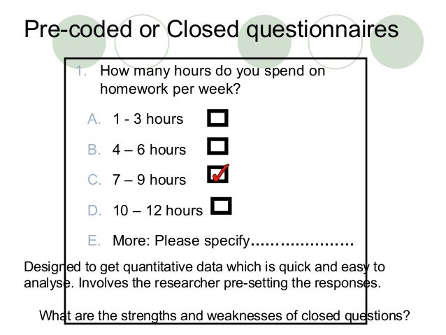strengths and limitations of questionnaires