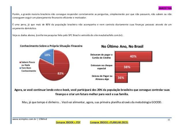 AMOSTRA www.ecimples.com.br   15Mind Comprar EBOOK + PDF Comprar EBOOK + PLANILHA EXCEL 15 Porém, a grande maioria brasile...