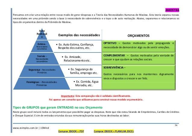 AMOSTRA www.ecimples.com.br   15Mind Comprar EBOOK + PDF Comprar EBOOK + PLANILHA EXCEL 54 Pensamos em criar uma relação e...