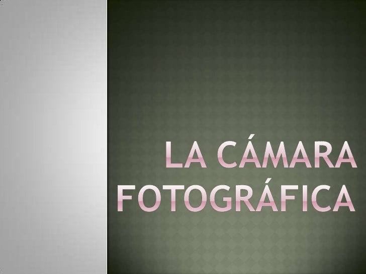 La cámara fotográfica<br />