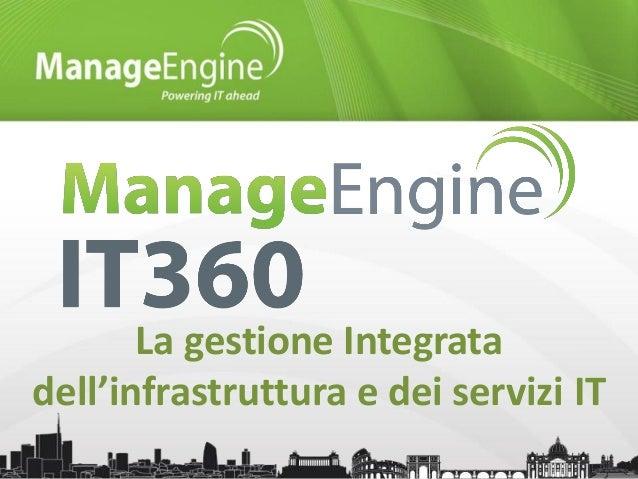 La gestione Integrata dell'infrastruttura e dei servizi IT
