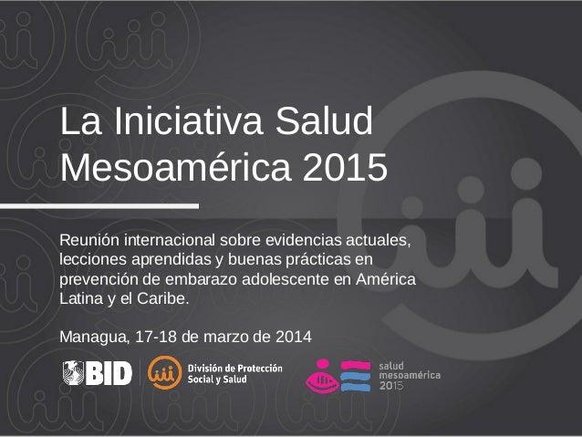 Reunión internacional sobre evidencias actuales, lecciones aprendidas y buenas prácticas en prevención de embarazo adolesc...