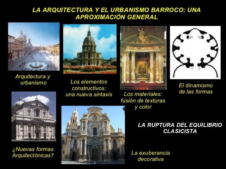 La arquitectura barroca caracteristicas generales for Caracteristicas de la arquitectura