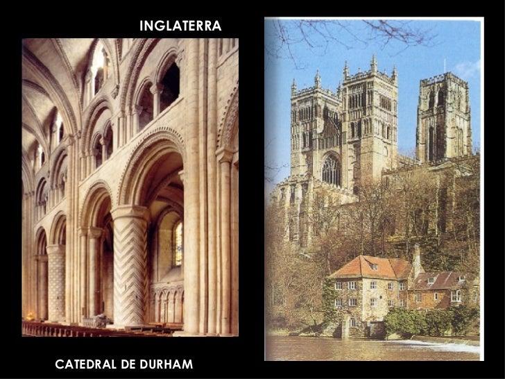 La arquitectura rom nica europea for Catedral de durham interior