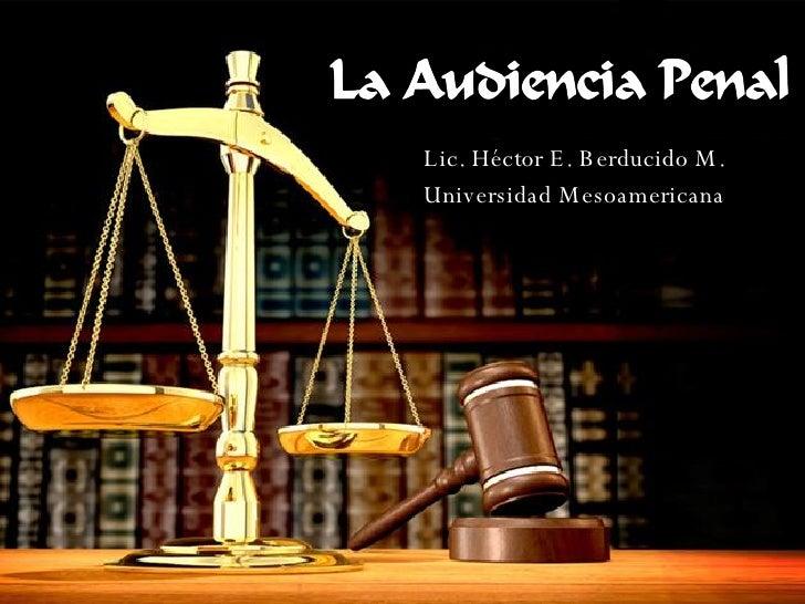 Lic. Héctor E. Berducido M. Universidad Mesoamericana