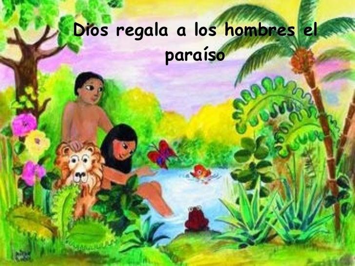 La biblia en imagenes for Adan y eva en el jardin del eden