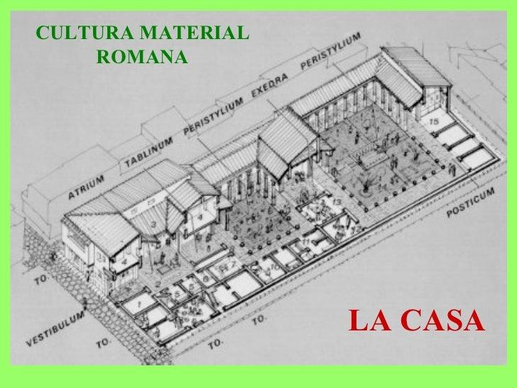 CULTURA MATERIAL ROMANA LA CASA