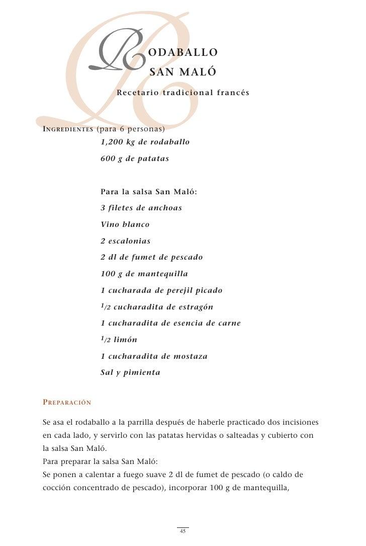 R           R          R ecetario tradicional francés    I NGREDIENTES (para 6 personas)                                OD...