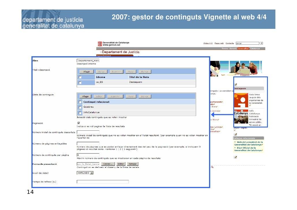 2007: gestor de continguts Vignette al web 4/4     14