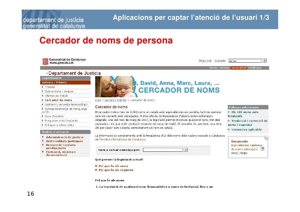 Aplicacions per captar l'atenció de l'usuari 1/3        Cercador de noms de persona     16