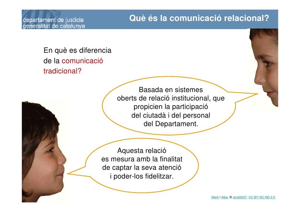 Què és la comunicació relacional?       En què es diferencia     de la comunicació     tradicional?                       ...