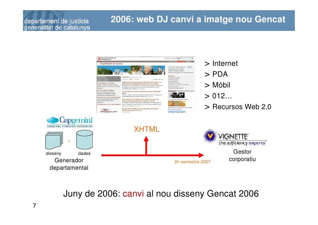 2006: web DJ canvi a imatge nou Gencat                                                         > Internet                 ...