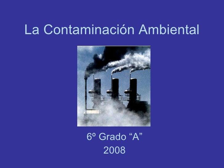 """La Contaminación Ambiental 6º Grado """"A"""" 2008"""