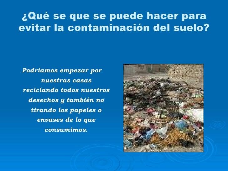 contaminacion suelo agua