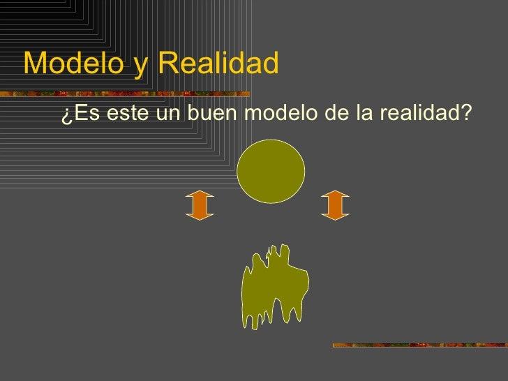 Modelo y Realidad <ul><li>¿Es este un buen modelo de la realidad? </li></ul>