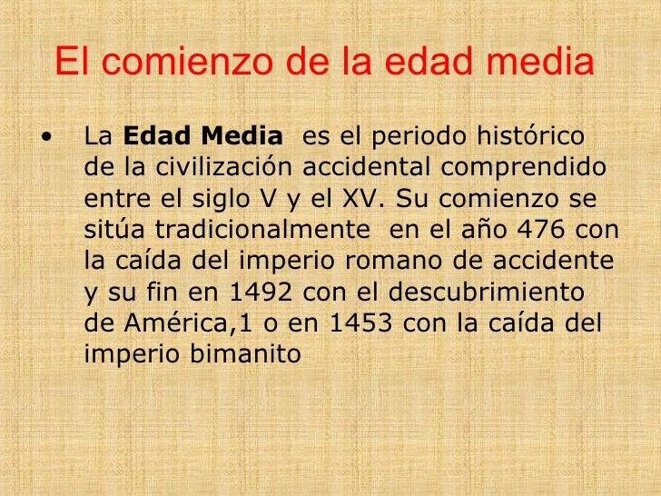 La Edad Media Slide 2