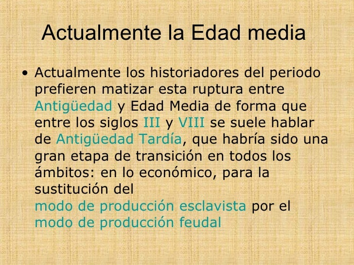 La Edad Media Slide 3