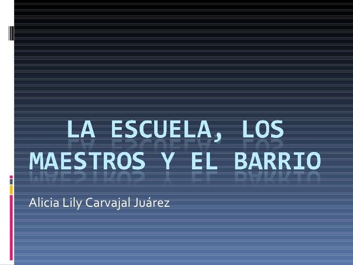 Alicia Lily Carvajal Juárez