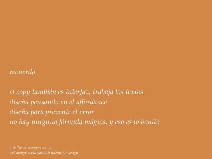 gracias .el diseño empieza y termina con los usuarioshttp://www.cesargarcia.com                      hola@cesargarcia.comw...