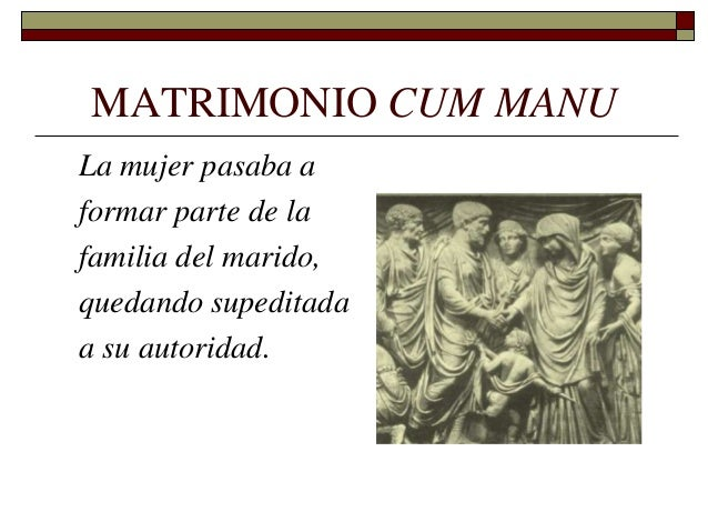 Formula Matrimonio Romano : La familia romana ies las norias monforte del cid