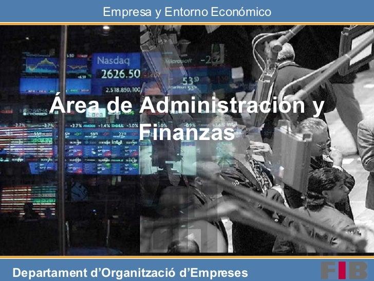 Área de Administración y Finanzas