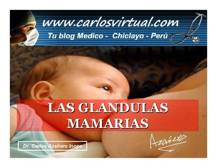 LAS GLANDULAS              MAMARIAS Dr. Carlos Azañero Inope Carlos Augusto Azañero Inope                        Dr.