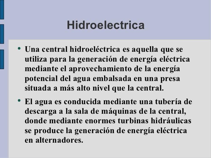 energia hidroelectrica definicion yahoo dating