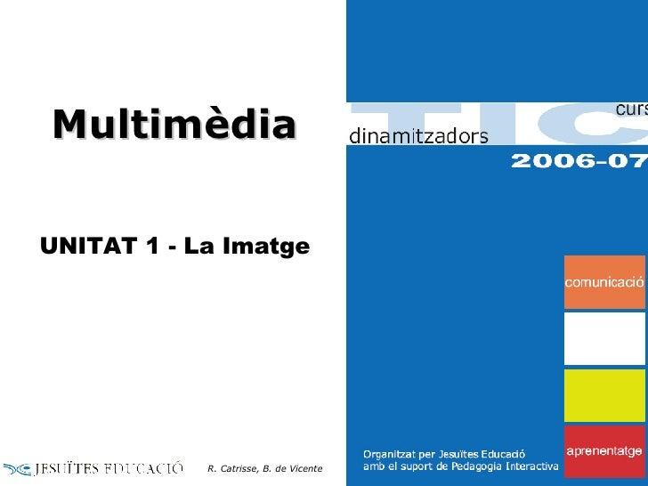 Multimèdia UNITAT 1 - La Imatge R. Catrisse, B. de Vicente