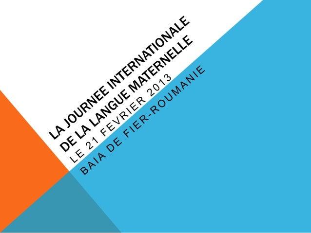 La journee internationale de la langue maternelle, Roumanie