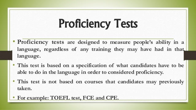 Testing - Proficiency Testing Introduction