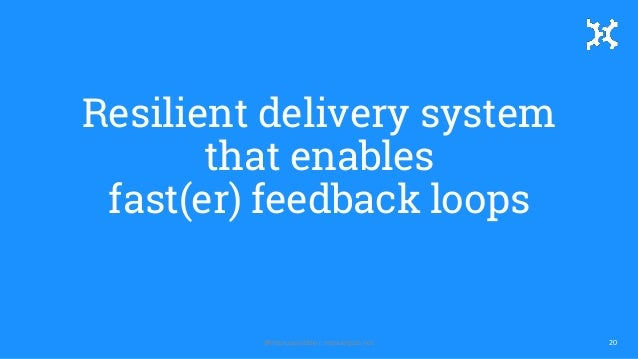 Resilient delivery system that enables fast(er) feedback loops 20@manupaisable | manuelpais.net