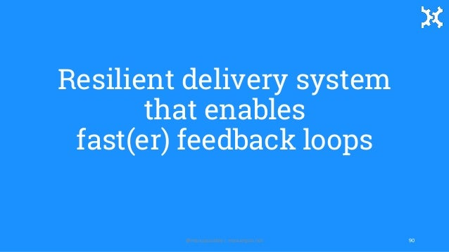 Resilient delivery system that enables fast(er) feedback loops 90@manupaisable | manuelpais.net