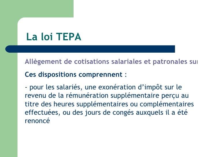 La loi tepa ud 33 v ronique darmaillacq - Hebergement a titre gratuit impot sur le revenu ...