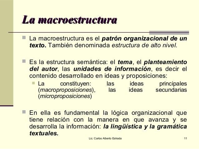 La Estructura Textual
