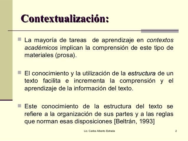 La estructura textual Slide 2