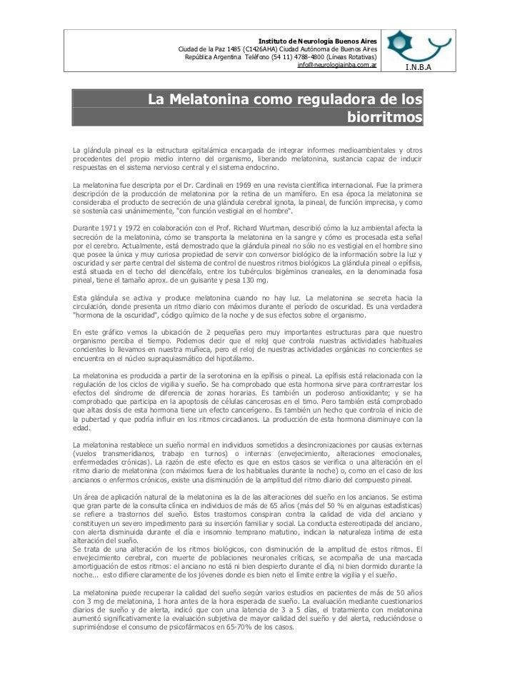 Instituto de Neurología Buenos Aires                                  Ciudad de la Paz 1485 (C1426AHA) Ciudad Autónoma de ...
