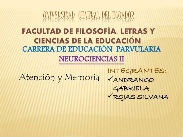 UNIVERSIDAD CENTRAL DEL ECUADOR FACULTAD DE FILOSOFÍA, LETRAS Y CIENCIAS DE LA EDUCACIÓN. CARRERA DE EDUCACIÓN PARVULARIA ...